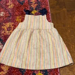 Zara striped toddler girl dress 18-24